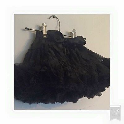 Black EXTRA FLUFFY Tutu 1-8 Years Available U.K. Shipping