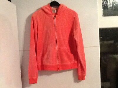 Girls juicy couture tracksuit top pink zip up hoodie hoody age 13 - 15 years