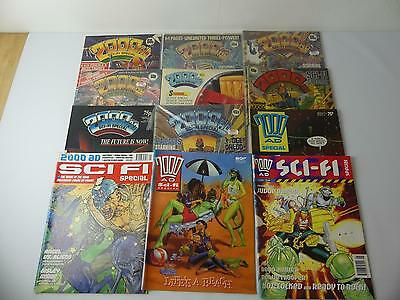 (ref200) 12 Vintage Comics 2000AD SciFi Specials from 80s and 90s