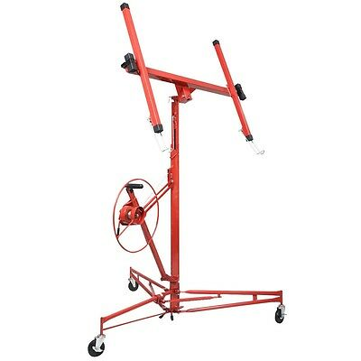Drywall Lift Panel Hoist Dry Wall Jack Rolling Caster Lifter Lockable 11' 15'