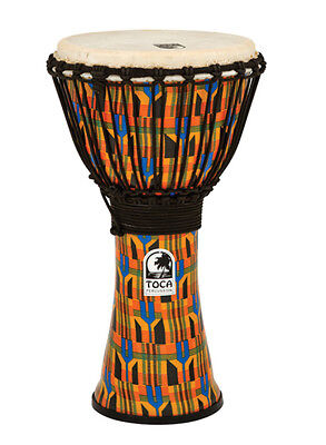 Toca Synergy Freestyle Djembe 10'' - SFDJ-10K - Kente Cloth