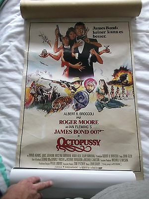 Vintage Octopussy James Bond German 1980's Cinema Poster