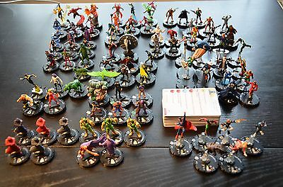 DC Heroclix lot incl LEs SRs  (all with cards)