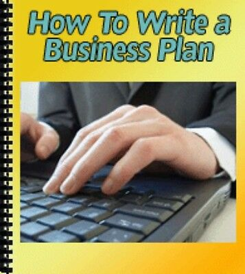 How to Write a Biz Plan  PDF Ebook with Free Shipping