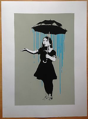 Banksy Nola Blue Screen Print.