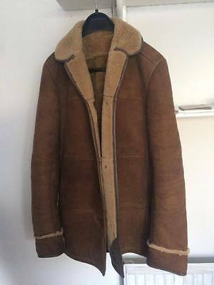Vintage Sawyer of Napa Suede Sheepskin Brown Coat Medium