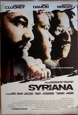 Syriana (2005) D/S Regular Cinema One-Sheet Poster, George Clooney, Matt Damon