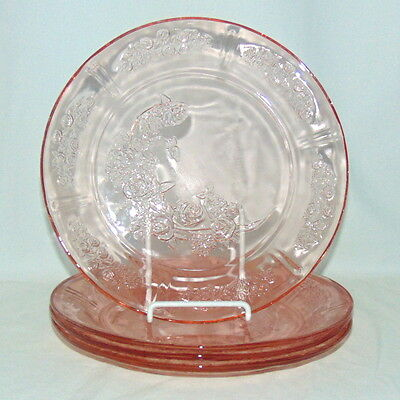 """4 Federal SHARON/CABBAGE ROSE PINK *9"""" DINNER PLATES*"""