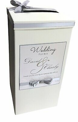Personalised Wedding Post Box AND Guest Book. Lace, Diamantes, Pearls.Any colour