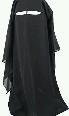 black long 3 in 1  islamic niqab