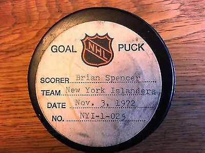 Brian Spencer - Rare 1972 Nhl Goal Puck - Made For Tv Movie - Gross Misconduct