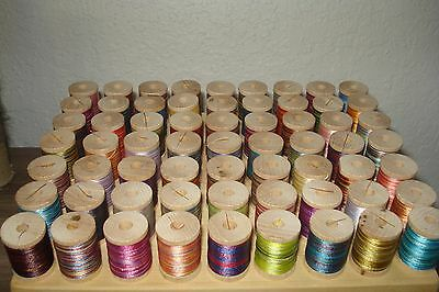 63 multi color thread rod building winding 100 YARDS SPOOLS very nice selection!