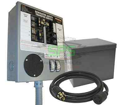 Generac 30 Amp Pre-wired Manual Transfer Switch Kit (6-10 Circuits) Model# 6294