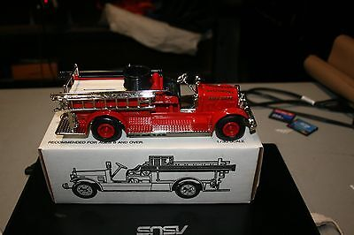 Ertl Toys 1926 Seagrave Baltimore City Fire Truck Toy Bank Issued 1991 New 1:30