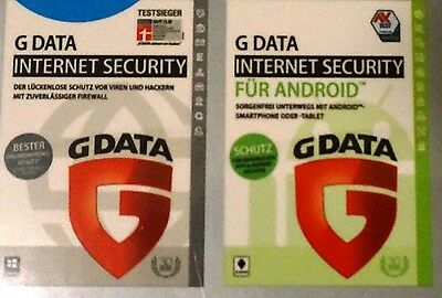 G Data Internet Security 2017 1 PC + 1 Android*KEY*GData Internet Security 2017
