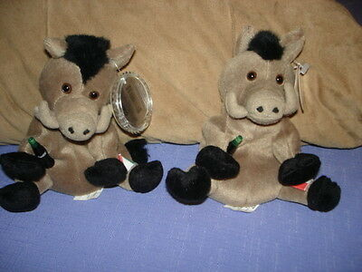 Coca Cola Coke Bean Bag Plush Italy Lors The Wild Boar Pair @1999