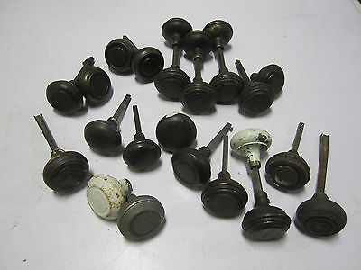 Big Lot(24 Total)Single/Pair Asstd Antique Vtg Metal/not Brass Door Knobs Ornate
