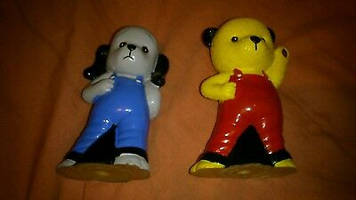 Sooty International 1995 Retro Vintage Squeaky Plastic Sooty and Sweep Toys Pair