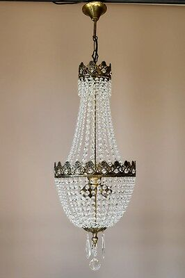 Classic Purse Antique French Vintage Crystal Chandelier Lamp Home Old Lighting