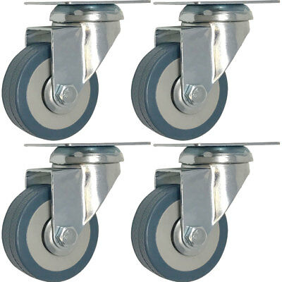 4 pack 2-Inch 200-Pound Heavy Duty Swivel Wheel Polyurethane Plate Caster