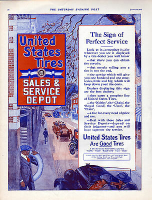 1917 United States Tires Ad --Are Good Tires ---x914