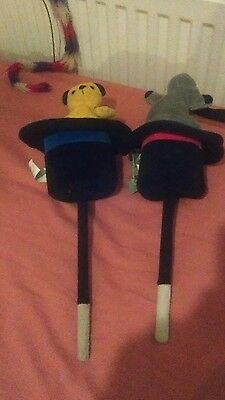 Sooty And Sweep Pair Pop Up Wand by Golden Bear Soft Plush Toy 2002 Tagged Mint