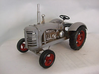 Tin Plate Model of a ClassicTransport Grey Tractor /Ornament /Gift