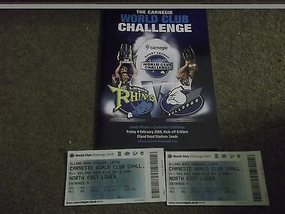 Rare 2005 World Club Challenge Leeds Rhinos V Canterbury Bulldogs & 2 Tickets