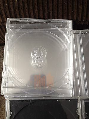 Lot of 16 Single Disk CLEAR Empty CD/DVD Music Movie Jewel Cases