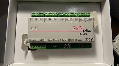 Lenz 11100 LS100 dcc Accessory decoder for 4 turnouts with feedback