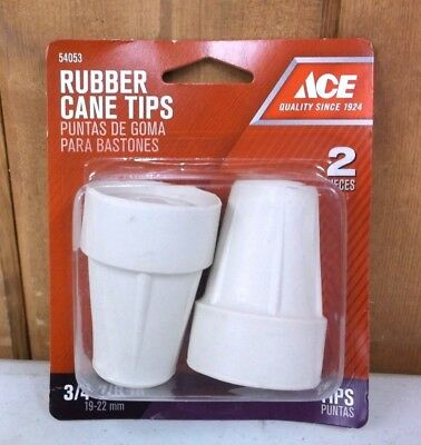 """Crutch Cane Tips Rubber Steel Reinforced ~ 3/4"""" - 7/8"""" ~ New"""