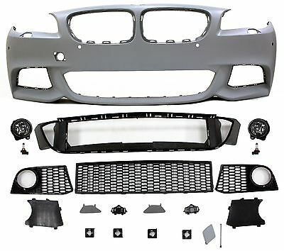 Bmw F10 Mtech Style Front Bumper Kit With Fog Lights For 2011-13 Bmw F10 W/ Pdc