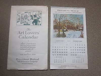 PROVIDENT MUTUAL LIFE INSURANCE Calendar 1944 NEVER USED Original Wrap VINTAGE