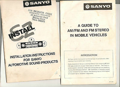 SANYO installation instructions+ Guide to AM/FM stereo RECEIVER car RADI in-dash