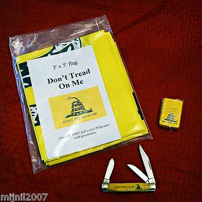 Don't Tread On Me Stockman, Flag and Lighter Set