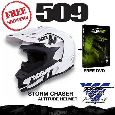 509 Altitude Storm Chaser Helmet With Gopro Mount + Breath Box And Free Dvd