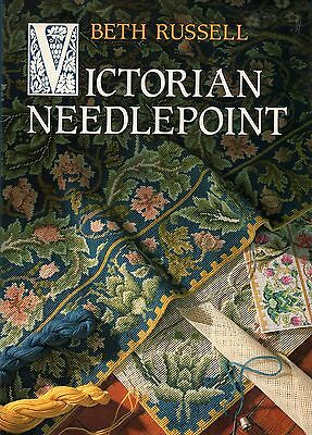 Beth Russell Victorian Needlepoint Book Hardcover DJ William Morris L C Tiffany