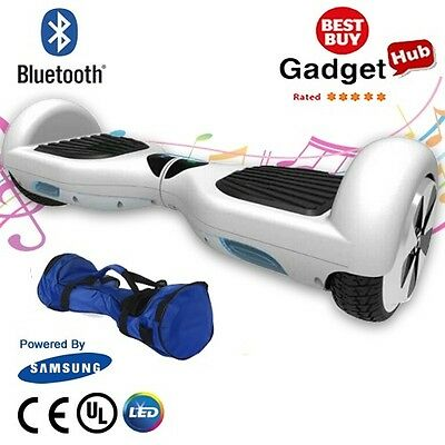 "White 6.5"" Hoverboard Swegway Electric Self Balance Hover Board CE BS Approved"