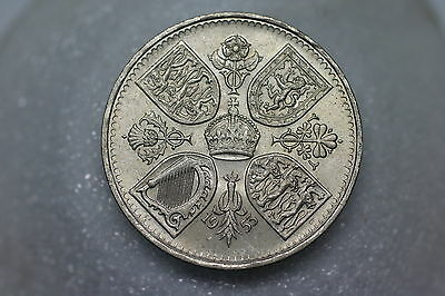 Uk Gb Crown 5 Shillings 1953 A56 #414