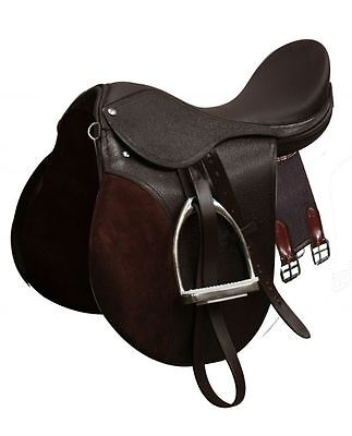 """New English Saddle Hunt Seat Hunter 16"""" Brown All Purpose Leather Horse Tack"""