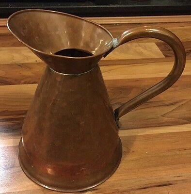 Lovely Large Antique Art Nouveau Copper Jug