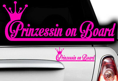 1x Aufkleber Princess WUNSCHNAME ON BOARD Prinzessin Hangover Baby Kind fährt