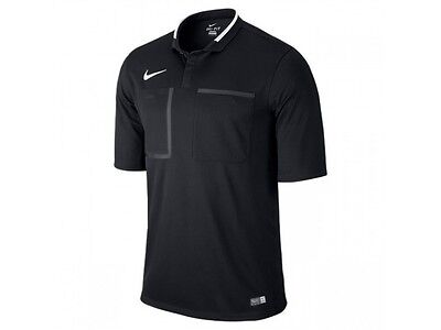 New Nike Referee Kit Short Sleeve Men Football Shirt Black Size XL