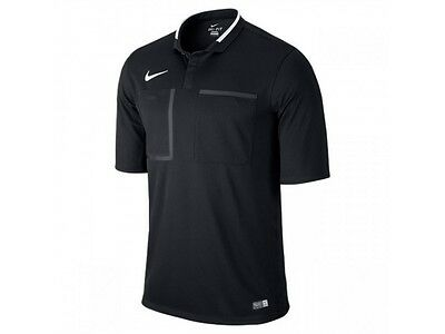 New Nike Referee Kit Short Sleeve Men Football Shirt Black Size LARGE