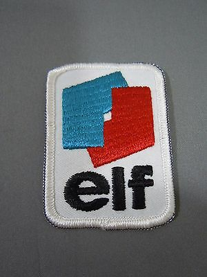 "ELF Petroleum Embroidered Iron On Uniform-Jacket Patch 2.5"" x 2"""
