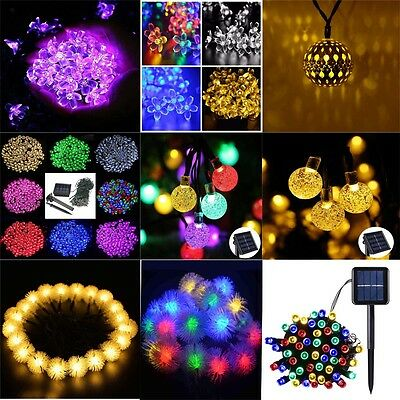 10-200 LED Solar Power String Fairy Lights Indoor Outdoor Waterproof Party Decor