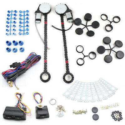 Universal Electric Power Window Kit for any 12V Vehicles 2 Doors Conversion Kit