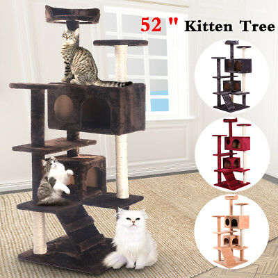 Cat Tree Tower Condo Furniture Scratch Post Kitty Pet House Play 3 Colors