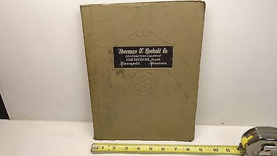 Vintage Thorman W. Rosholt Co Contractors Equipment Catalog 1925 Minneapolis, MN