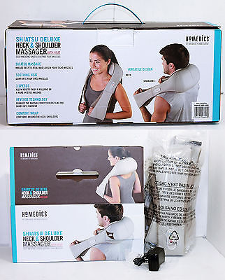 Homedics Shiatsu Deluxe Neck & Shoulder Massager with Heat NMS-620H, Brand New